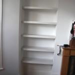 Chiswick House: Inbuilt bespoke shelving.